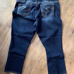 Silver Jeans, Suki crop, Size 18
